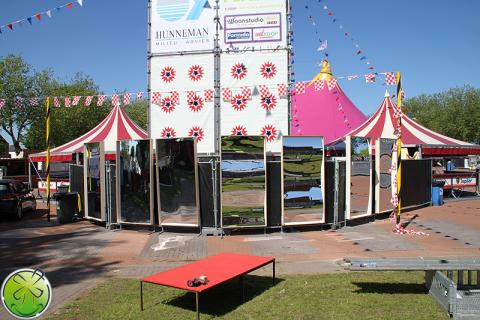 Extremely suitable for the larger festivals in the Netherlands, Belgium and Germany: XXL Smiley Mirrors!